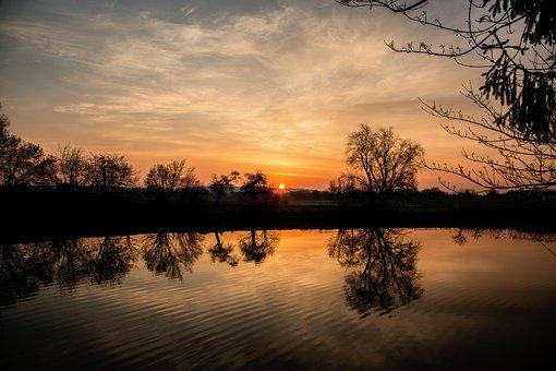 Evening, Sunset, Sky, Nature, Landscape, Dusk, Mood