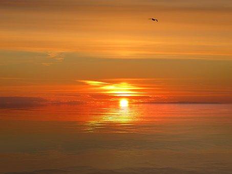 Sunset, Sky, Sea, Landscape, Clouds, Evening, Dusk