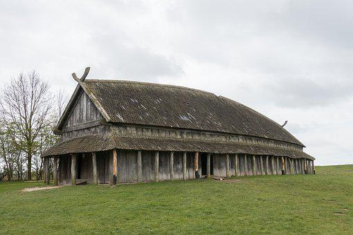 Vikings, Langhus, Trelleborg, Wood, Struts Tag, Viking