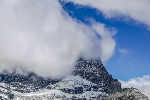 Matterhorn, Switzerland, Valais, Fog, Cloud, Overcast