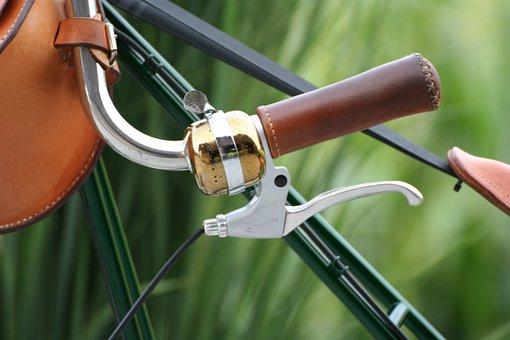Bike, Bell, Leather Handle, Brake, Handlebars, Velo
