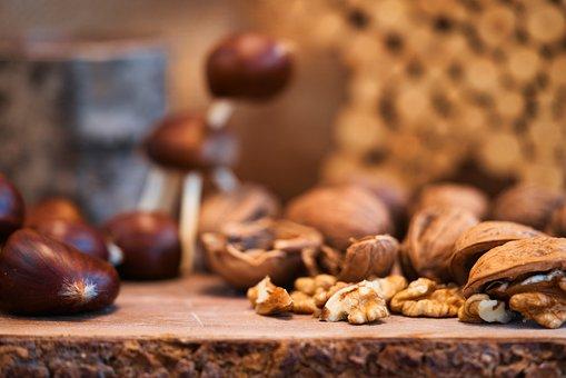 Chestnut, Walnuts, Autumn, Nuts, Decoration