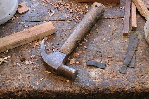 Hammer, Tool, Wood, Workshop, Tools, Carpenter, Work