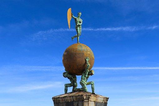 Background, Architecture, Venice, Figures, World, Ball