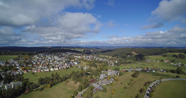 Aerial View, Drone, Sun, Land, Nature, Sky