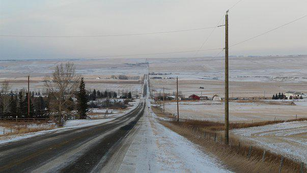 Alberta, Landscape, Country, Canada, Highway, Scenic