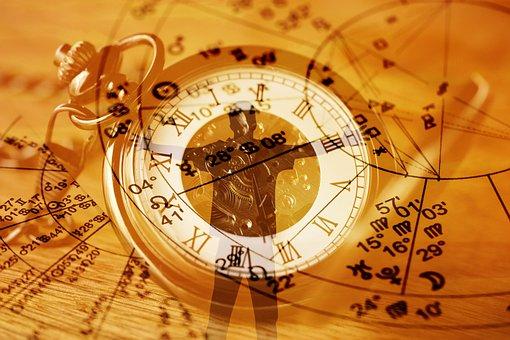 Astrology, Clock, Silhouette, Man, Hug, Pocket Watch