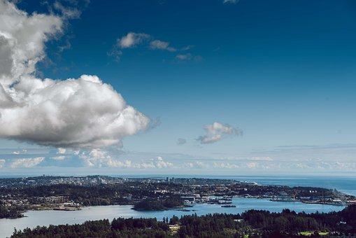 Victoria, Bc, Canada, Ocean, Landscape, Military Base