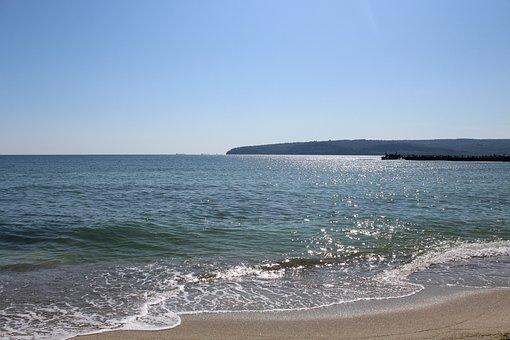 Black Sea, Wave, Water, Sand, Bay, Nature, Landscape