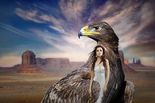 Fantasy, Mystical, Composing, Photomontage, Girl, Magic