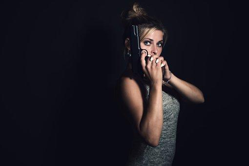 Girl, Woman, Pistol, Gangster, Dangerous, Killer, Bond