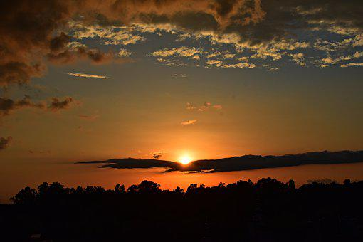 Sunset, Sky, Clouds, Landscape, Evening, Dusk, Nature