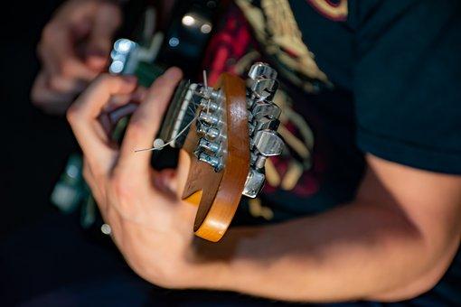 Guitar, Guitarist, Music, Electric, Studio Recording