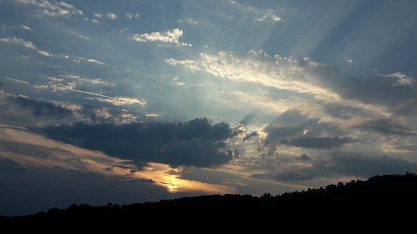 Evening, Sky, Clouds, Autumn, Autumn Mood, Evening Sky