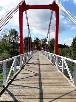 Bridge, Sky, Architecture, City, Footbridge