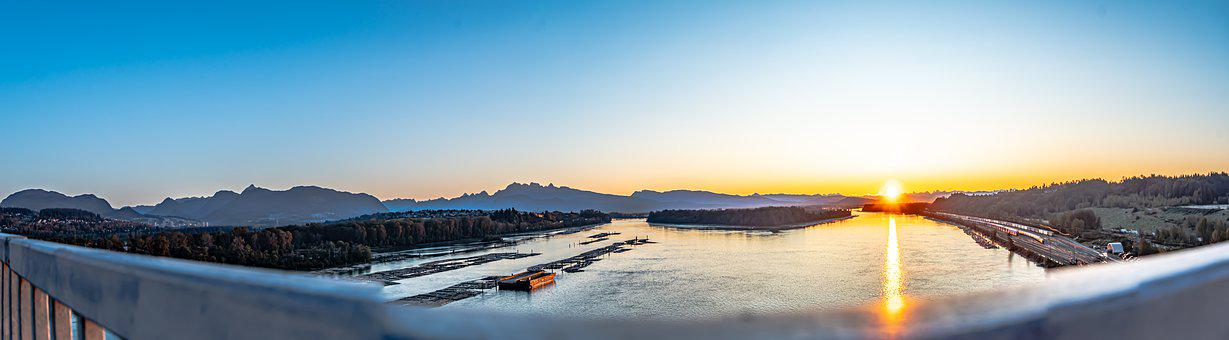 Sunrise, Panorama, Scenic, Morning Sky, Golden Hour