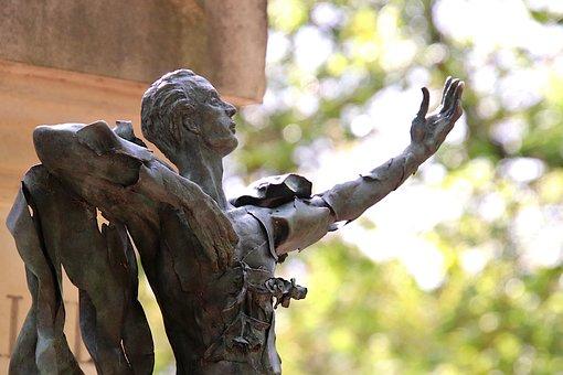 Statue, Sculpture, Bronze, Gray-green, Man, Famous