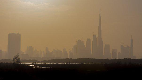Dubai, Skyline, Haze, Hazy, United Arab Emirates