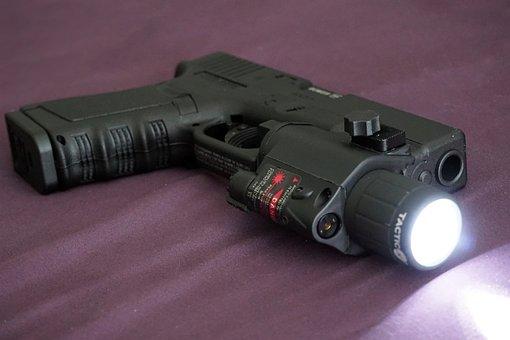 Gun, Pistol, Handgun, Glock, Light, Home Defense