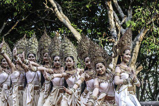 Dancers, Girls, Women, Thai, Khmer, Thailand, Cambodia