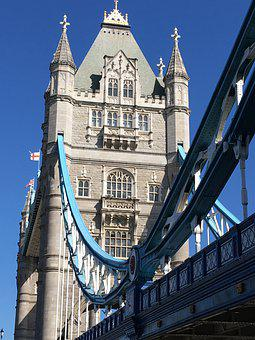 London, Tower Bridge, Landmark, England, Bridge