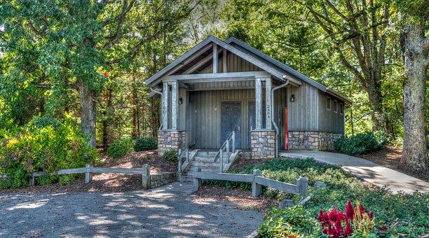 Cabin, Forest, Trees, Cottage, Nature, Landscape, Rural
