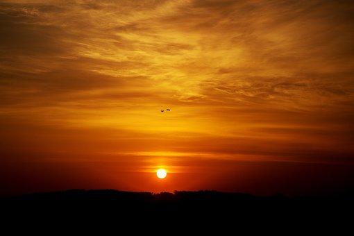 Evening, Sky, Sun, Sunset, Dusk, Mood, Sea, Landscape