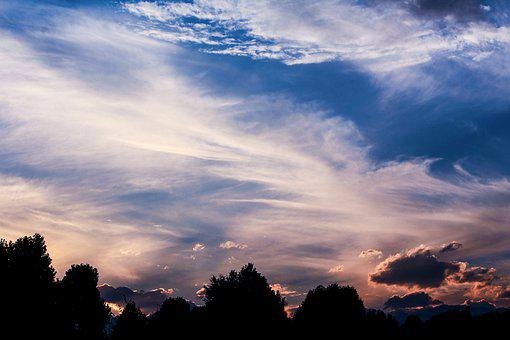 Landscape, Clouds, Sky, Sunset, Twilight, Blue, Nature