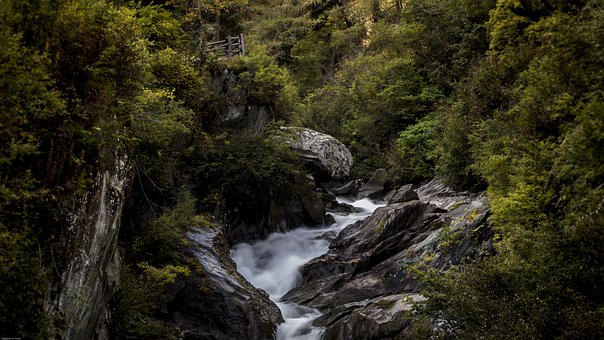 River, Waterfall, Cascade, Scenic, Nature, Water