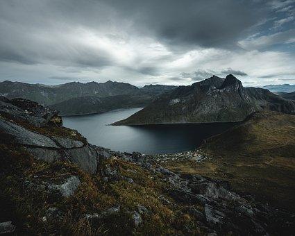 Norway, Lofoten, Nature, Landscape, Sky, Sea, Senja