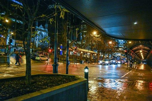 Night, Octagon, Central Dunedin, Dunedin, New Zealand