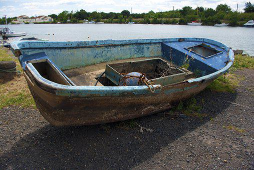 Boat, Old Boat, Sea, Nature, Old, Water, Wreck, Ship