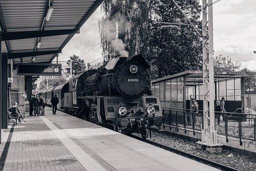 Steam Railway, Retro, Railway, Historically, Transport