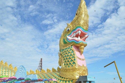 Serpent, Naga, The, Sculpture, Thailand, Asia, Statue