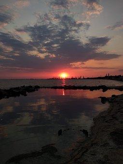 Sea, Summer, Evening, Sun, Nature, Landscape, Coast