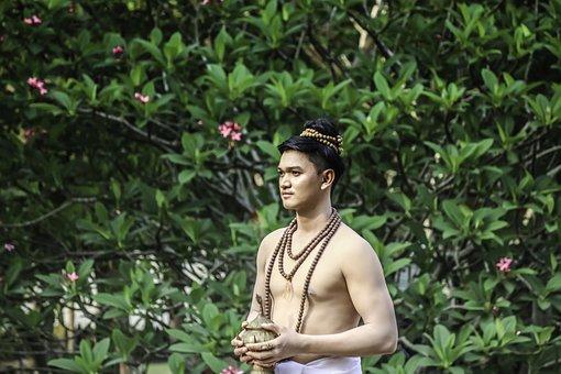 Traditional, Thai, Man, Thailand, Buddha, Culture, Asia