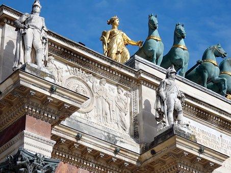 Paris, The Louvre, Triumphal Arch, Carousel, Napoleon