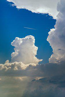 Sky, Clouds, The Plane, Landscape, Blue, Cloud, Weather