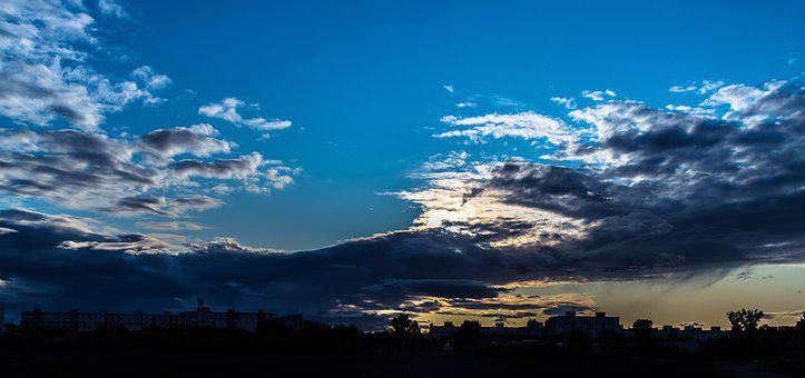 The Sky, Clouds, Blue, Nature, Weather, Bratislava