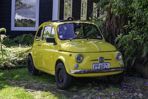 Car, European, Yellow, Travel, Auto, Drive, Road, Motor