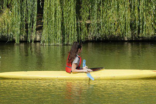 Girl, Person, Young, Female, Canoe, Kayak, The Boat