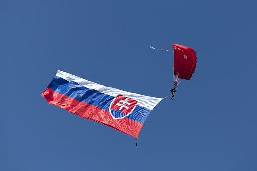 Slovak Flag, Pledge, Paragliding, A Skydiver, Sliač