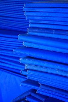 Matting, Blue, Sleeping Mats, Material, Deck Chair