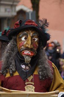 Figure, Fool, Haestraeger, Carnival, Fools Jump, Panel