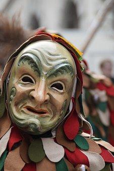 Head, Fig, Fool, Haestraeger, Carnival, Fools Jump