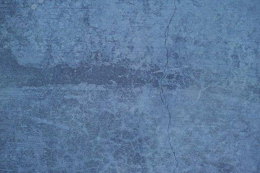 Blue, Grey, Texture, Cement, Concrete, Grunge, Crack
