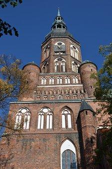 Church, Steeple, Gothic, Brick Gothic, Greifswald