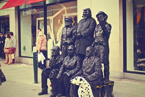 Street Artists, Artists, Figures, Statues, City, Urban