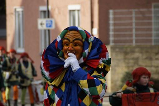 Fool, Clown, Fig, Funny, Harlequin, Costume