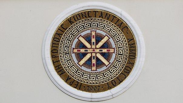 Mosaic, Emblem, Bishopric, Orthodox, Paralimni, Cyprus
